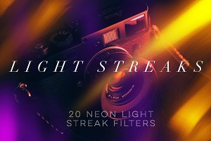 20 NEON Light Streak Filters