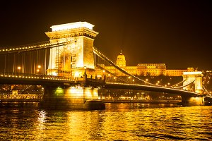 Chain bridge in Budapest.