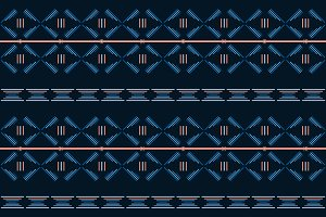 Blue tribal seamless  pattern.