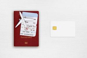 Passport, boarding pass, credit card