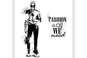 Vector woman and man fashion