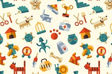 Pattern With Pet Infographic Icons