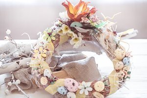Easter composition wreath