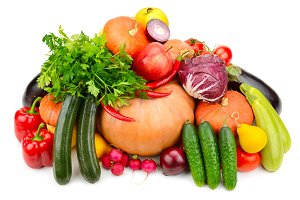 Collection of useful vegetables and