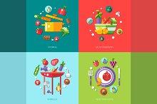 Food Infographic Illustrations
