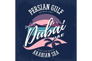 Print as Dubai or UAE sign