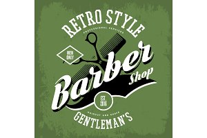Barber shop or vintage haircut salon sign