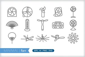 Minimal fan icons