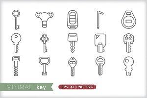 Minimal key icons
