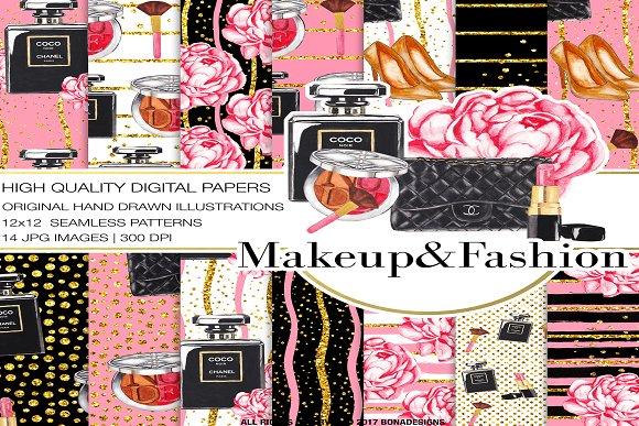 Fashion Digital Paper+Bonus-Graphicriver中文最全的素材分享平台