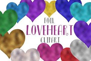 Foil love hearts