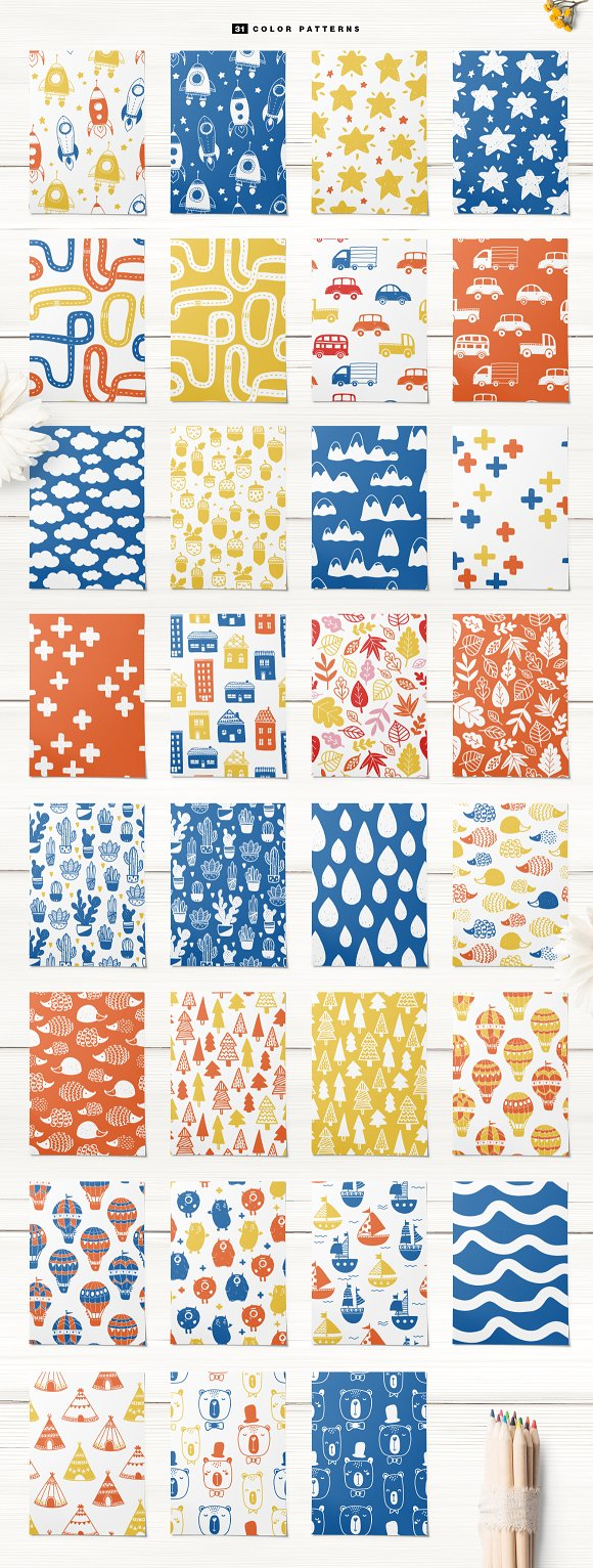 51 kids patterns, for boys & girls! in Patterns - product preview 2