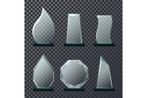 Empty glassware trophy or sport award