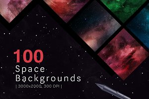 100 Space Backgrounds 40% OFF