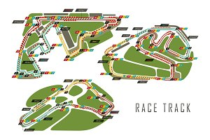 Race tracks for Brazil and Italy Arab Emirates