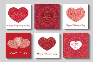 Valentine Cards Set