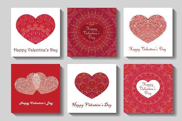 Valentine Cards Set