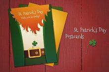 3 Postcards St. Patrick`s Day