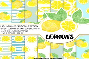 Lemons Digital Paper