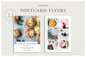 Foodie Postcard Flyers