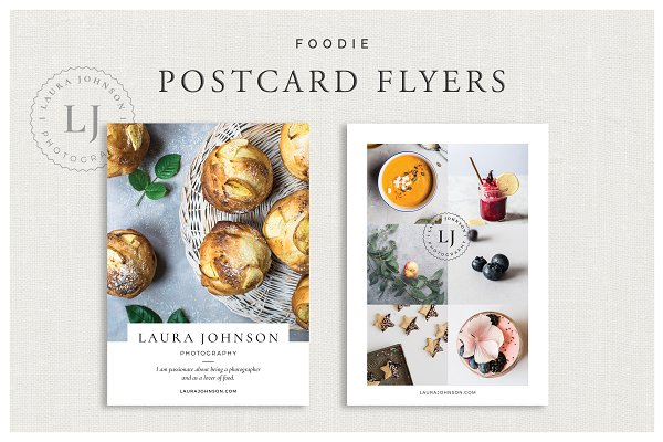 Flyer Templates: White Box Design Studio - Foodie Postcard Flyers