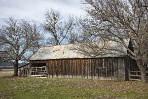 Rural barn scene
