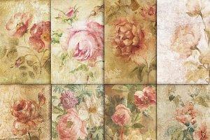Vintage victorian floral antique set