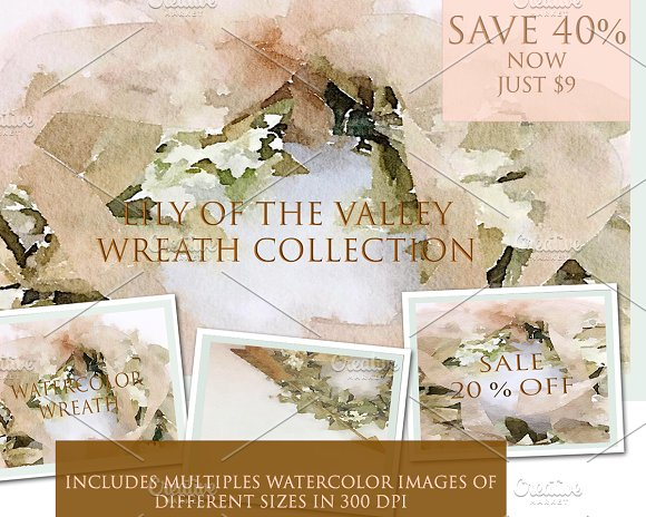 Lily Of The Valley Wreath Collection