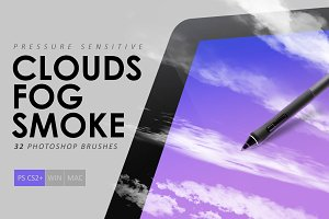 Clouds, Fog, Smoke Photoshop Brushes