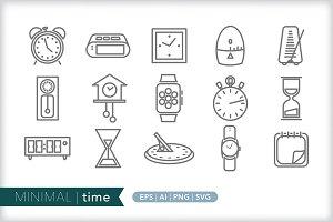 Minimal time icons