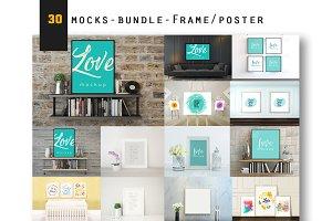 30 MockUps - Bundle - Frame - Poster