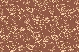 coffee, seamless pattern