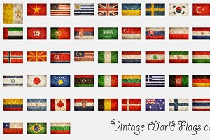 Vintage World Flags collection