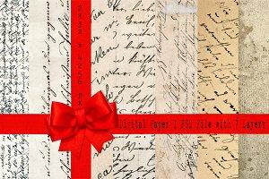 Handwritten scripts paper textures