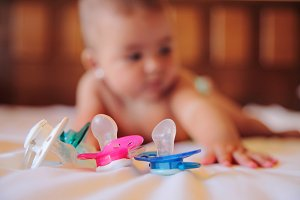 Baby and pacifier
