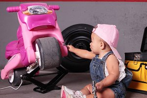 Young mechanic girl
