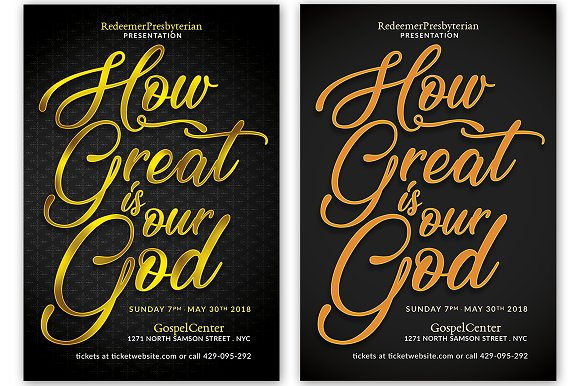 How Great Is Our God Flyer