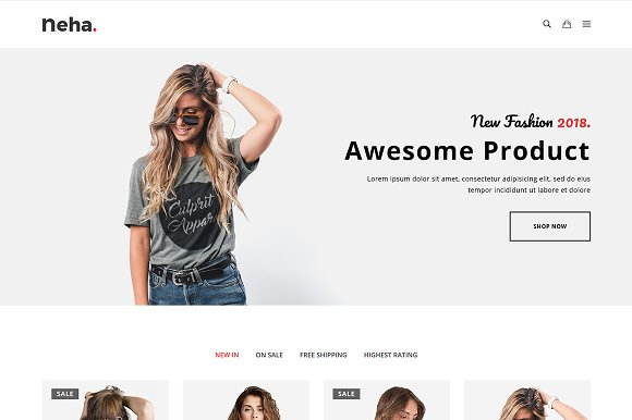Neha ECommerce Bootstrap4 Template
