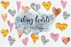 Shiny Hearts Clipart