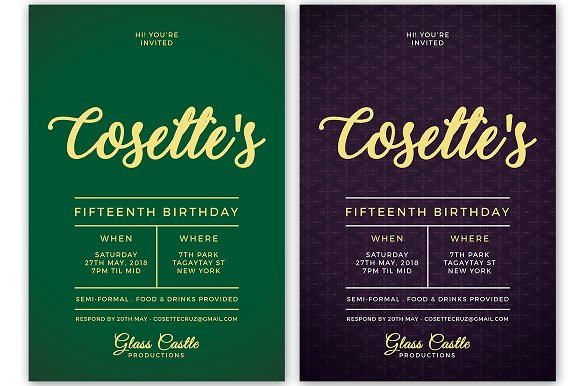 Simple Birthday Invitation in Postcard Templates - product preview 6