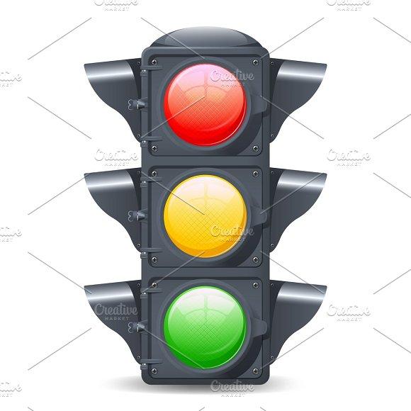 Traffic lights realistic