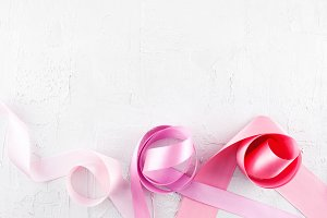 White background with ribbons