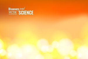 Orange science background