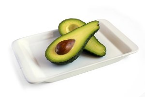 Fresh avocado on plate