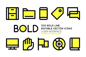BOLD basic User Interface icons
