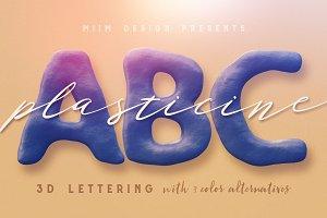 Plasticine - 3D Lettering