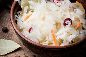 Sauerkraut cabbage salad