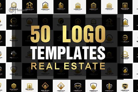 50 Real Estate Logo Templates Bundle