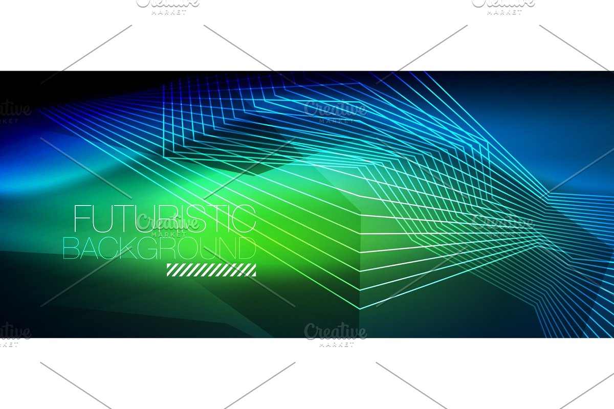 Straight neon lines