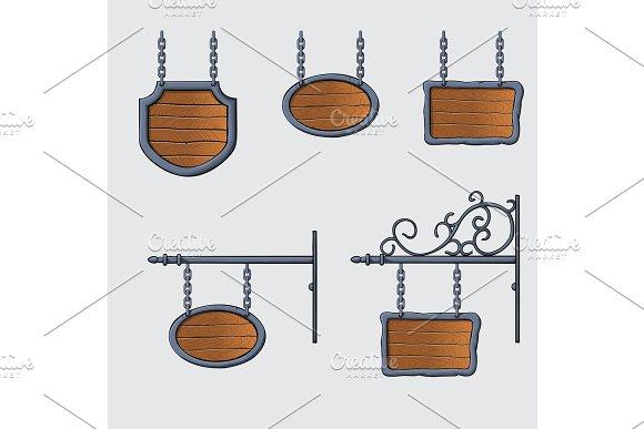 medieval wood sign